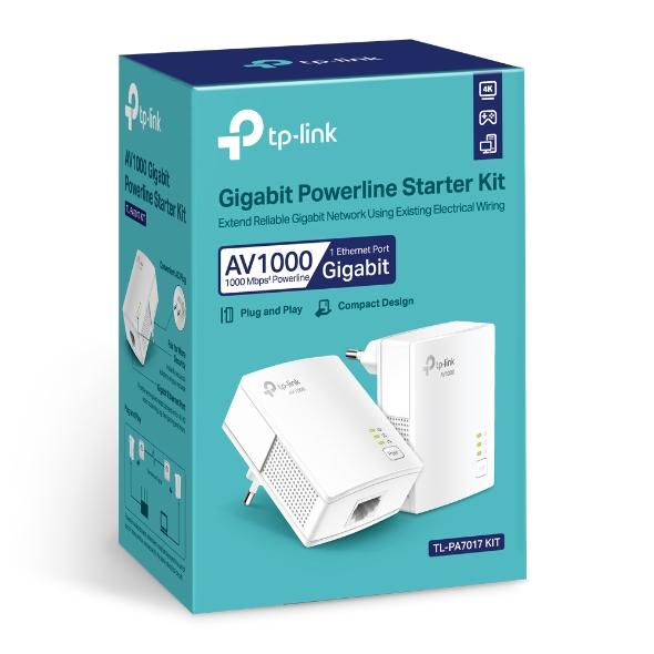 TP-Link TL-PA7017KIT, AV1000 Gigabit Powerline