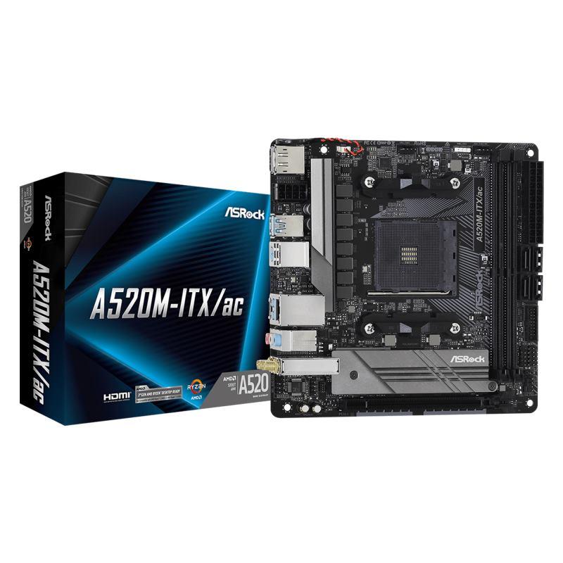 ASROCK Základná doska A520M-ITX/AC