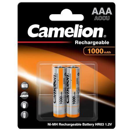 CAMELION Batérie nabíjateľné AAA 2ks NI-MH 1000mAh