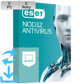 ESET NOD32 Antivirus 2021 3PC na 2r El.lic
