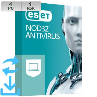 ESET NOD32 Antivirus 2021 4PC na 1r Aktual