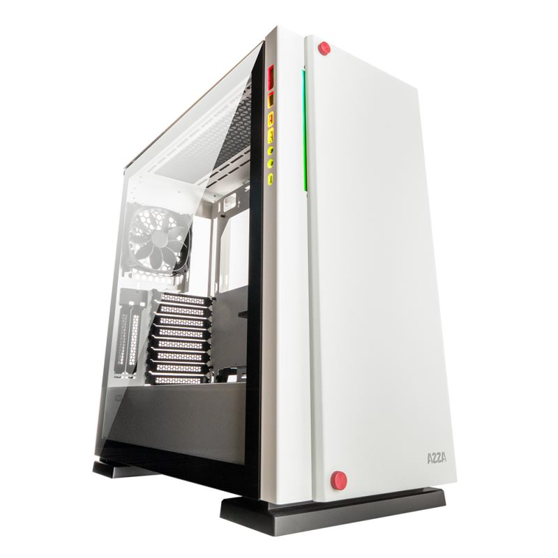 AZZA CSAZ-7000W Zircon wht Gaming Case, PC Skrinka