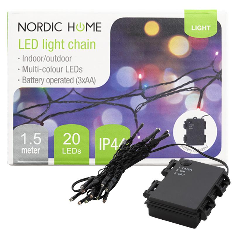 DELTACO Vianočné osvetlenie reťaz 1,55m RGB