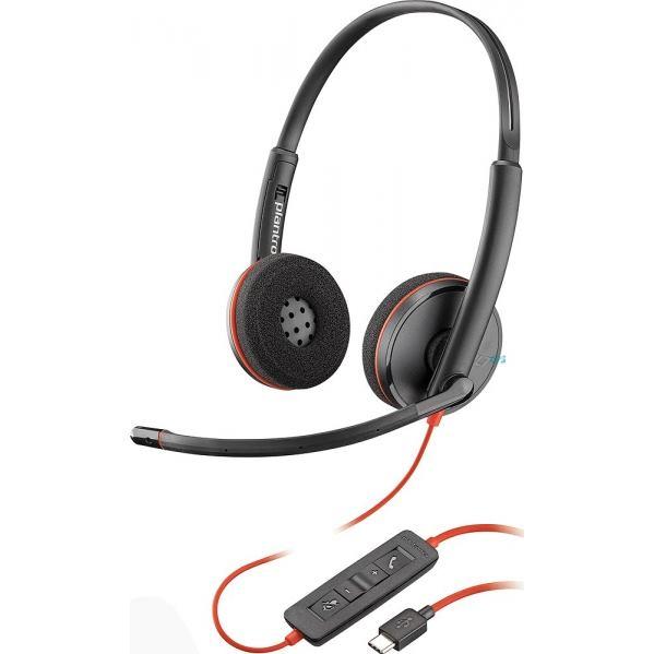 PLANTRONICS Slúchadlá s mikrofónom C3220 USB-C