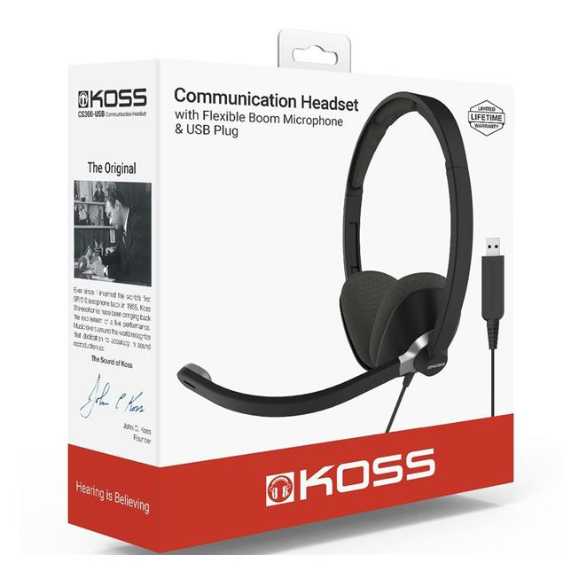KOSS CS300USB Headset & Gaming, Slúchadlá