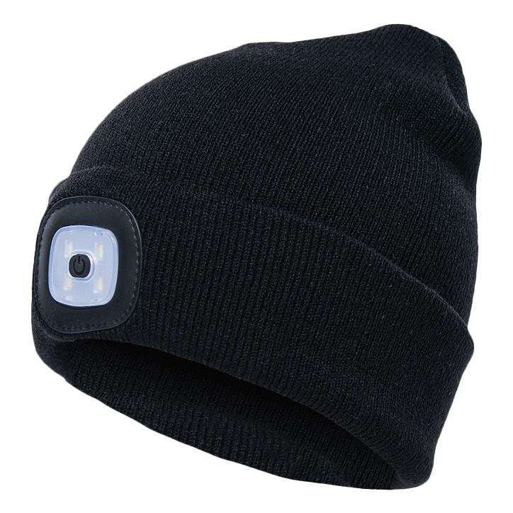 GADGETMONSTER GDM-1015, LED čiapka, čierna