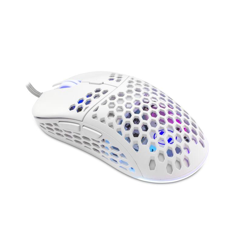 eShark ESL-M4 NAGINATA, Herná myš, wht
