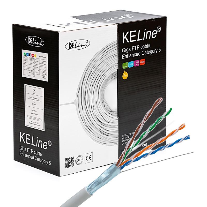 KELINE Kábel FTP (F/UTP) 4x2xAWG24 Cat 5E LSOH 305