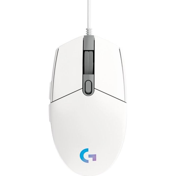 LOGITECH G203 2nd Gen LIGHTSYNC, Hráčska myš, wht