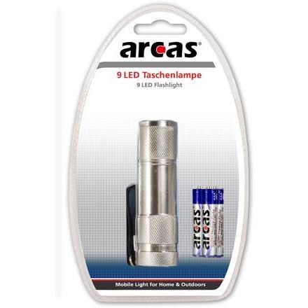 ARCAS LED LIGHT 9, LED Baterka strieborná