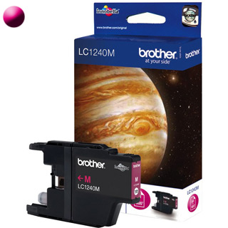 BROTHER LC1240M, Cartridge, purpurový (magenta)