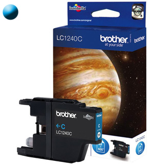BROTHER LC1240C, Cartridge, azúrový (cyan)