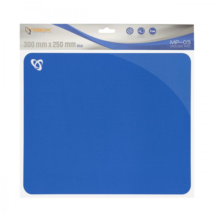 SBOX MP-03BL, Podložka pod myš - modrá