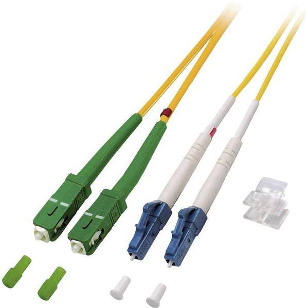 EFB Fiber kábel LC-SC/APC, 1m Duplex OS2(9/125um)