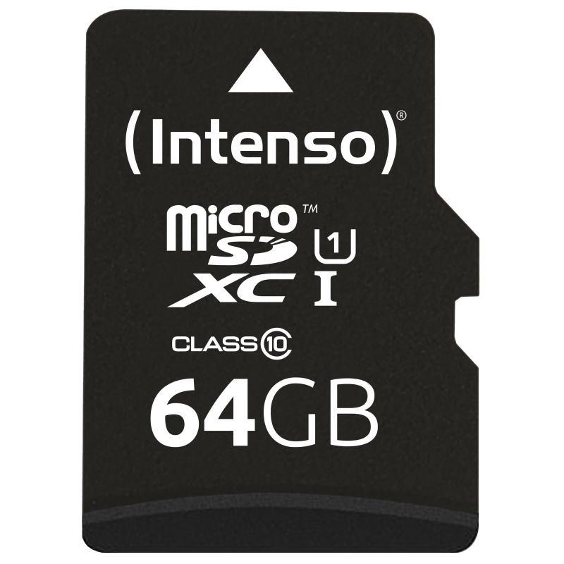 INTENSO Micro SDXC karta 64GB Class10, UHS-1