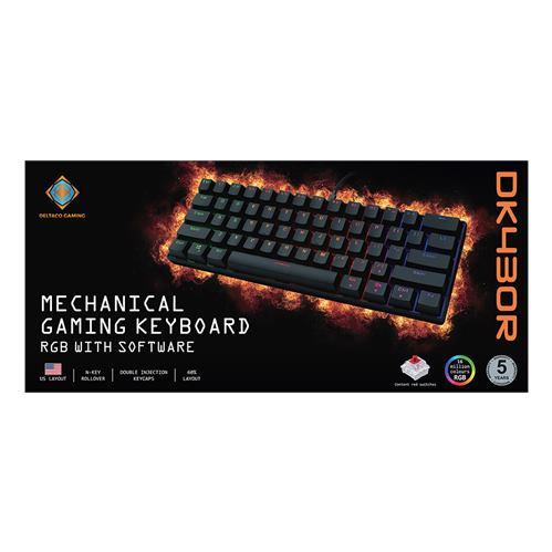 DELTACO GAM-075-US, Hráčska klavesnica,USB, US