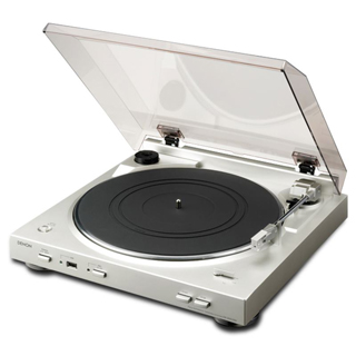 DENON Gramofón DP-200USB strieborný