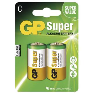 GP Batéria alkalická SUPER C 2ks R14 2BL