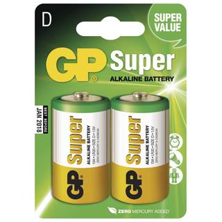 GP Batéria alkalická SUPER D 2ks R20 2BL