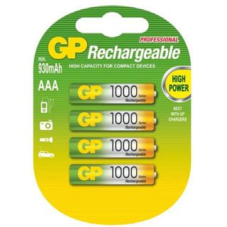 GP Batérie nabíjacie AAA 4ks R03 NIMH 1000mAh
