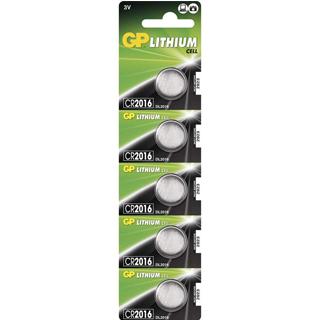 GP Batérie LITHIUM gombíkové CR2016 5ks 3V 80MAH