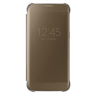 SAMSUNG Púzdro CLEAR VIEW pre Galaxy S7 zlaté