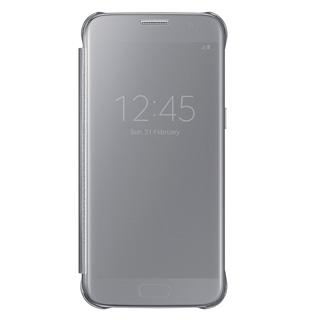 SAMSUNG Púzdro CLEAR VIEW pre Galaxy S7 strieborné