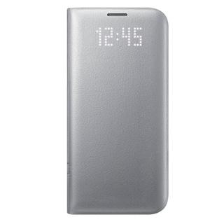 SAMSUNG Púzdro LED VIEW pre Galaxy S7 EDGE striebo