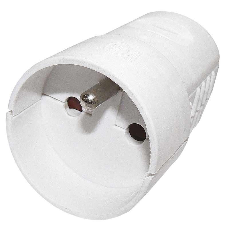 EMOS Zásuvka biela pre predlžovací kábel