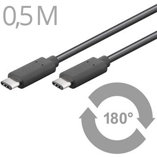 CABLE KU31CC05B USB3.1 Typ C/male - USB 3.1 kon. C