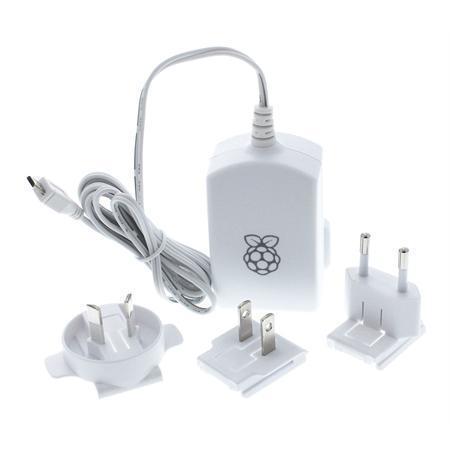 RASPBERRY USB adaptér pre Raspberry Pi 2,5A biely