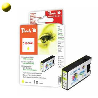 Cartridge Peach CANON PGI-1500 Yellow PI100-275