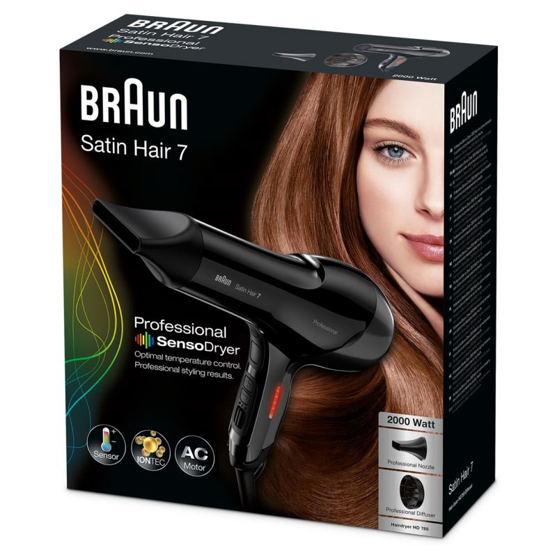 BRAUN Fén na vlasy Satin Hair 7 SENSO Dryer HD785