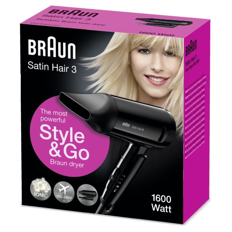 BRAUN Fén na vlasy Satin Hair 3 To Go HD350