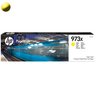 HP Cartridge PageWide F6T83AE 973X Yellow 7000str