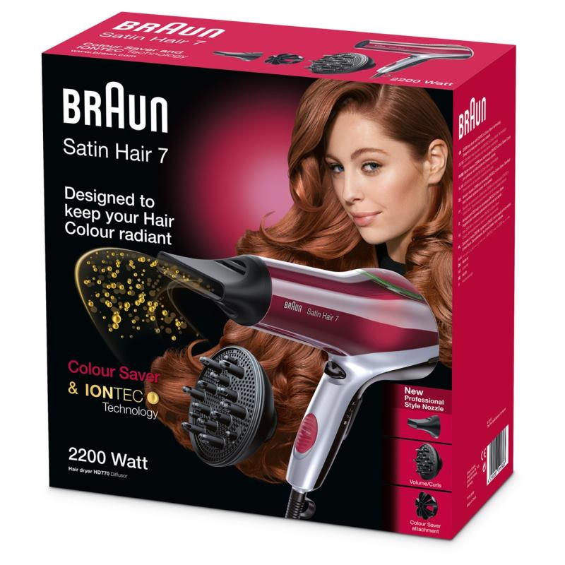 BRAUN Satin Hair 7 - Fén na vlasy HD770 Color