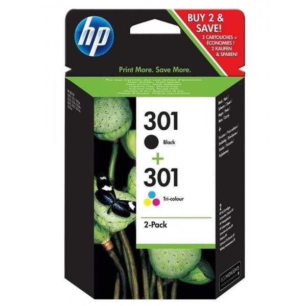 HP Catridge No.301 Combopack Black+Color CR340EE