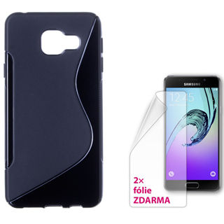 CON-IT S-COVER SAMSUNG Galaxy A3 2016 Black
