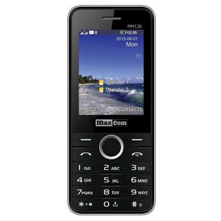 MAXCOM Telefón DUAL Sim MM136 čierno/strieborný