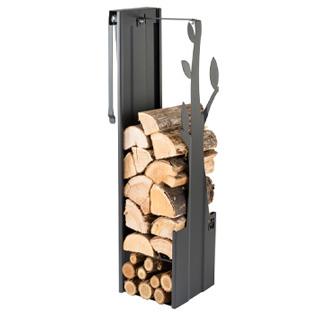 CafDesign Zásobník na drevo strom čierny 270mm