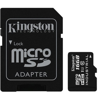 KINGSTON Micro SDHC INDUSTRIAL 16GB UHS-I + Adap