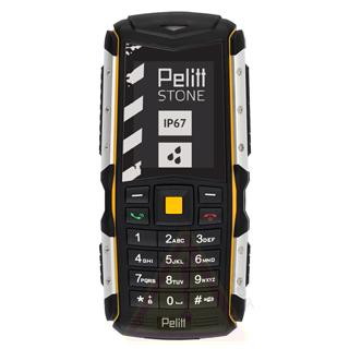 PELITT Telefón Stone black/yellow