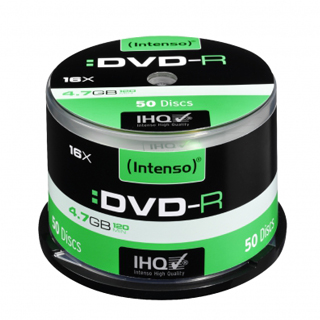 INTENSO DVD-R Cake Case 4,7GB 50ks
