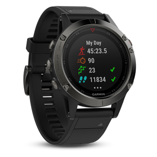 GARMIN Fénix 5 Grey/Black band 47mm