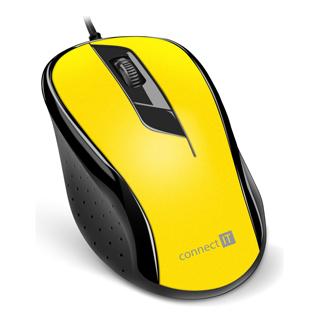 CON IT Optická myš USB žltá