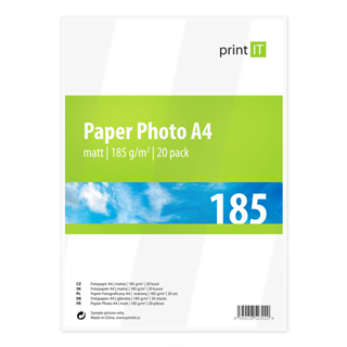 PRINT IT Value Paper Photo A4 185g/m2 Mate 20p