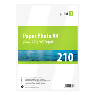 PRINT IT Value Paper Photo A4 210g/m2 Glossy 20p