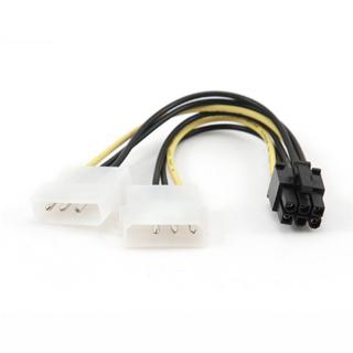 """GEMBIRD Rozdvojka napájani 2x 5,25"""" na PCIe (6pin)"""