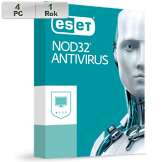 ESET NOD32 Antivirus 2019 4PC na 1r