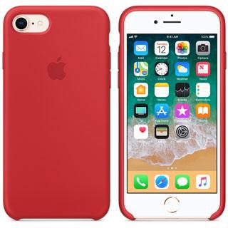 APPLE Silikónové púzdro pre iPhone 8/7 PRO Red
